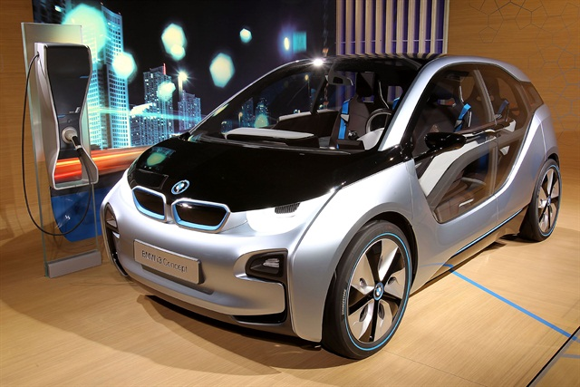 The new version of BMW's all-electric i3 concept. The automaker is planning a production version of this vehicle in 2013.