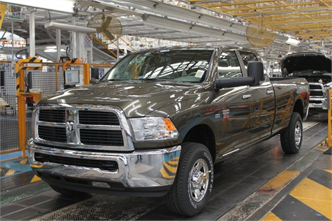The Ram 2500 CNG pickup truck.