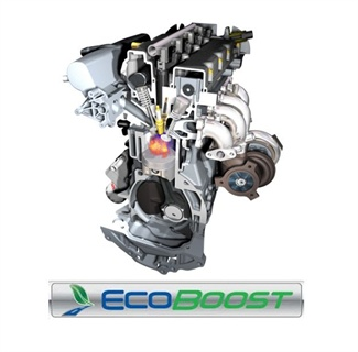 The Ford Edge's inline four-cylinder EcoBoost 2.0L engine.