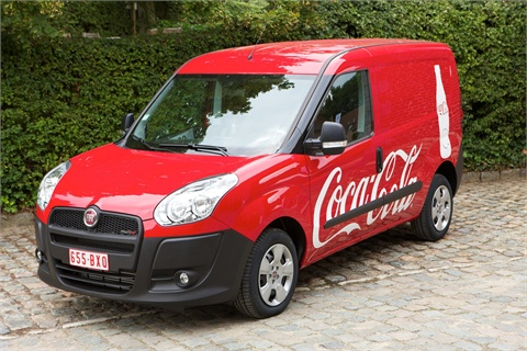 Pictured is the European version of the Fiat Doblo.