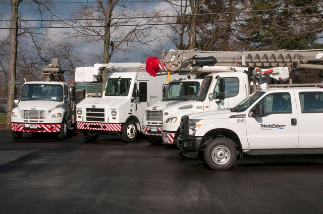 FirstEnergy is investing in new vehicles to replace older ones, many of which are more than 10 years old. Photo courtesy FirstEnergy.