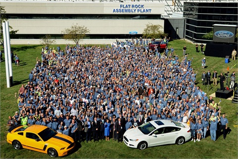 More than 1,500 workers marked the start of a new era at Flat Rock Assembly Plant on Monday, Sept. 10, 2012. Photo courtesy Ford Motor Co.