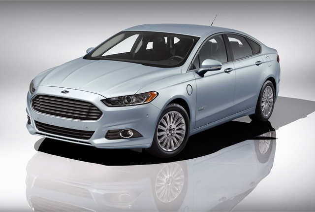 The Ford Fusion Energi plug-in hybrid.