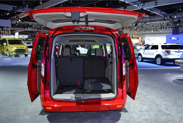 The Transit Connect Wagon features a rear liftgate. Dual doors are an available option on the vehicle. Photo by Greg Basich