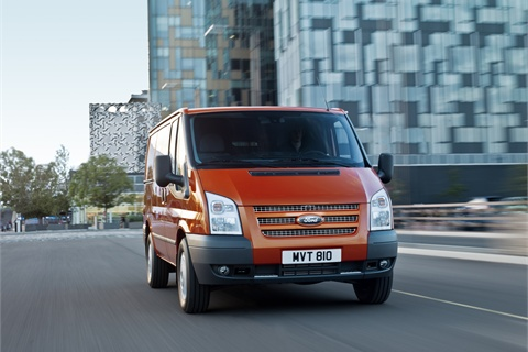 The European version of the Ford Transit van. Pictured is the short wheelbase model.