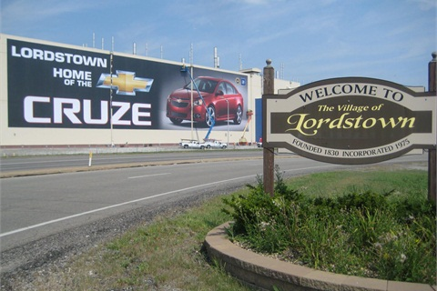 The GM Lordstown plant will build the next-generation Chevrolet Cruze.