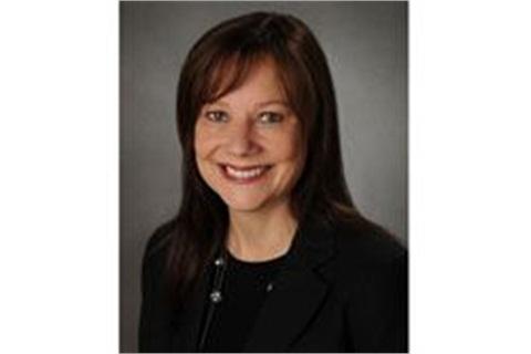 GM's Mary Barra, senior vice president of Global Product Development.