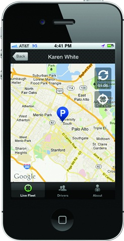 The new GreenRoad Central app provides fleet safety information to fleet management professionals.