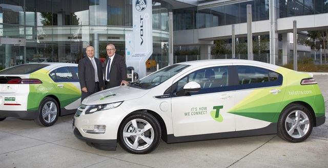 Telstra takes possession of its first Holden Volt