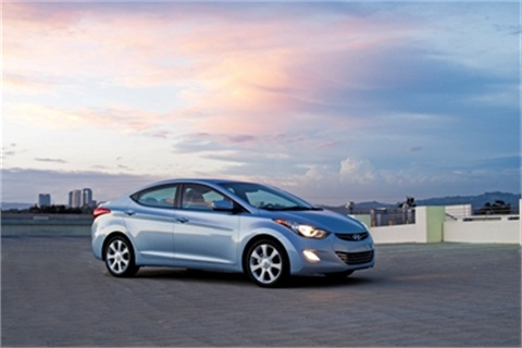 The Hyundai Elantra.