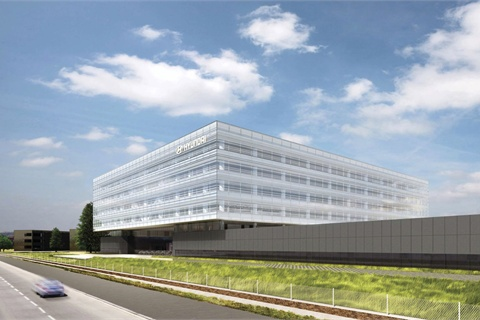 A rendering of Hyundai's new proposed U.S. headquarters.