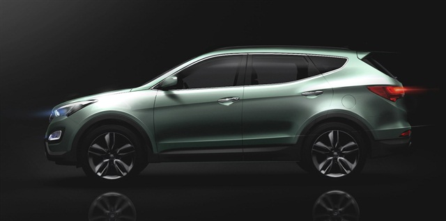"The new Santa Fe was designed with Hyundai's ""Storm Edge"" design philosophy."