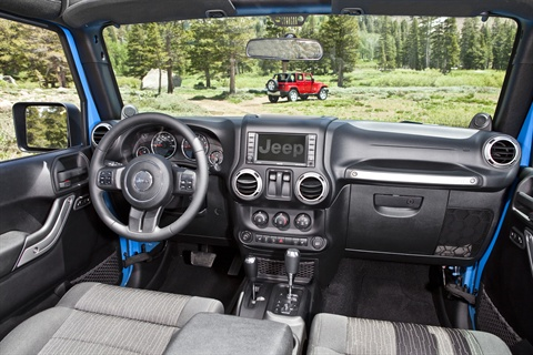 The Wrangler can seat up to five adults.