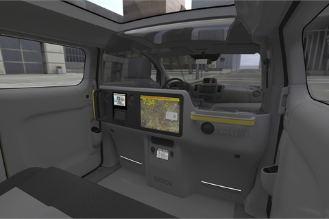 A design for the planned NV200 interior.