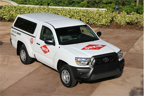Branches will start getting the Tacomas delivered in January 2013, and it will take until 2015 to complete the transition. Orkin plans to lease a total of about 5,000 Tacomas. Current Rangers will be sold as their lease term expires.