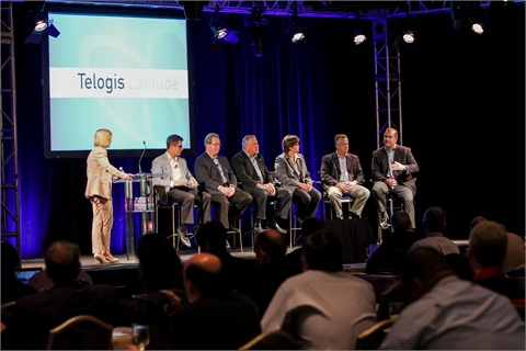 A panel discussion at the Telogis Latitude event.