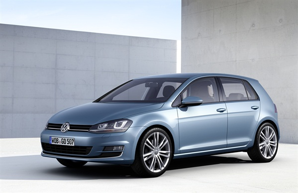 The seventh generation of the Golf is coming to the U.S. as a 2014 model, according to VW.