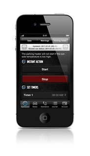 Volvo's On Call iPhone application.