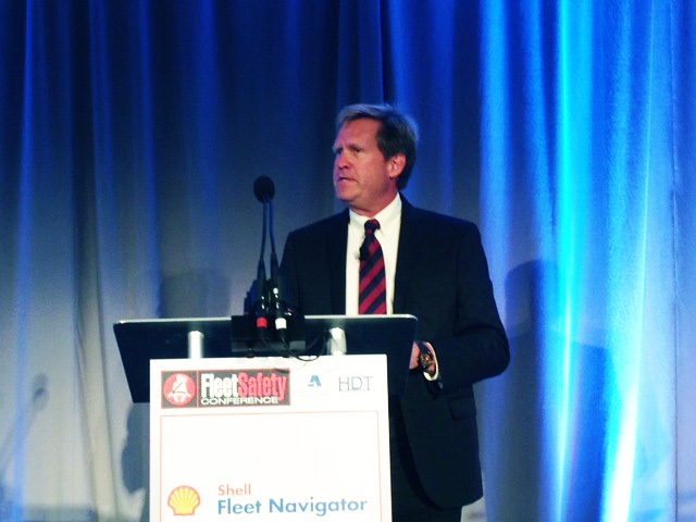 Shell Global Road Safety Manager Mike Watson addresses the 2015 Fleet