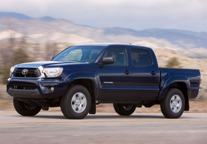 The Tacoma was Toyota's top commercial fleet vehicle in 2013. Photo of