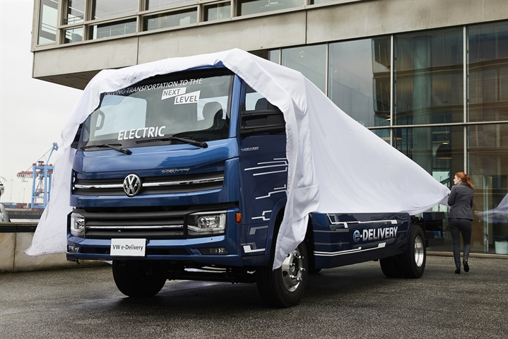 Volkswagen Truck & Bus revealed the e-Delivery truck and announced