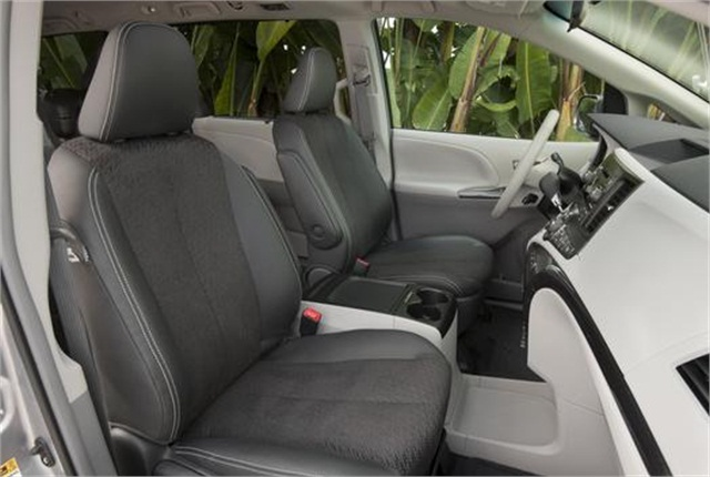 The interior of a Toyota Sienna. Photo courtesy of Toyota.