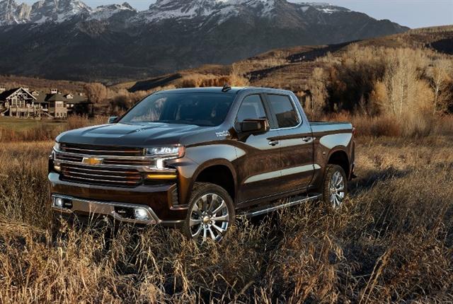 Photo of the 2019 Chevrolet Silverado courtesy of GM.