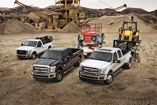 Photo of Ford F-Series Super Duty trucks courtesy of Ford.