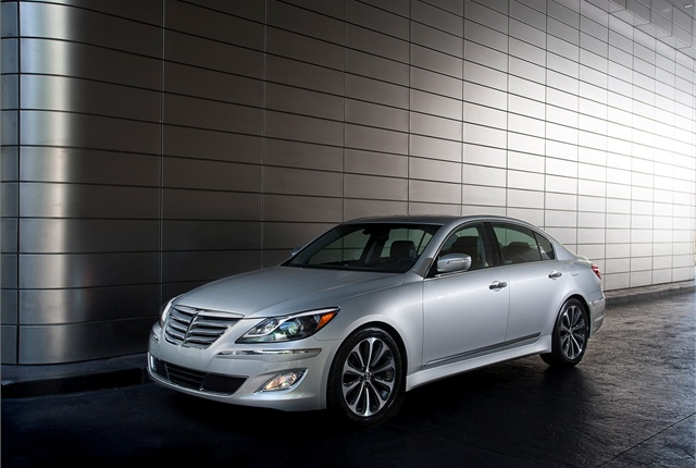 Photo of 2012 Hyundai Genesis courtesy of Hyundai.