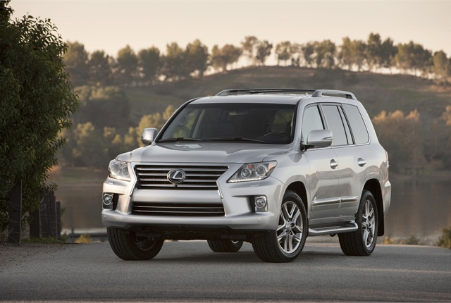 The full-time four-wheel drive system in the Lexus LX 570 employs a Torsen limited-slip locking center differential that splits the power 40:60 under normal driving conditions