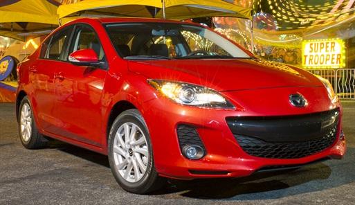The Mazda3 sedan has begun production in Mexico.