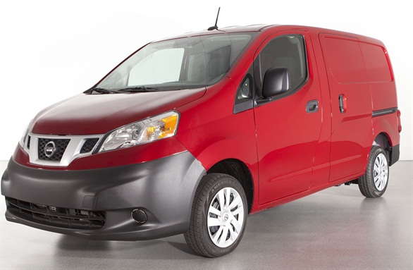 The Nissan NV200 is rated at 24 mpg combined and has a payload capacity of 1,500 lbs.