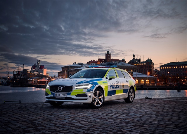 The Swedish Police will take delivery of several Volvo V90 vehicles beginning in early 2017. Photo: Volvo
