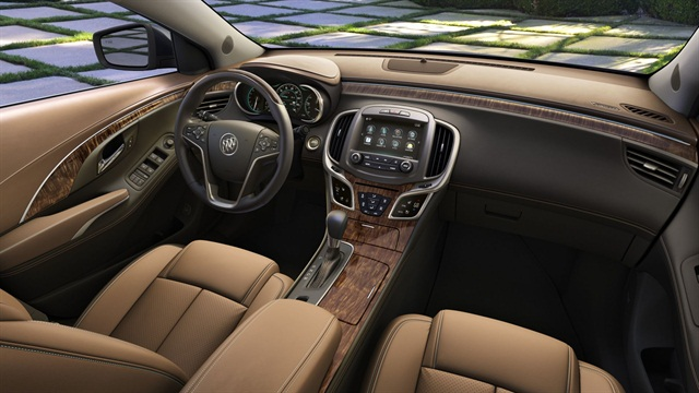 Buick said it enhanced the LaCrosse's interior materials for MY-2014.