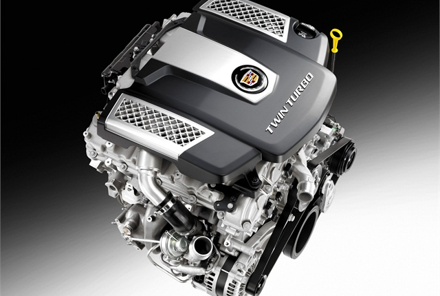 GM plans to offer a new twin-turbo V-6 in the all-new-2014 Cadillac CTS. Photo courtesy GM.