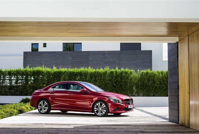 The CLA250 is powered by a 2.0L four-cylinder engine with ECO start/stop as a standard feature. Photo courtesy Mercedes-Benz.