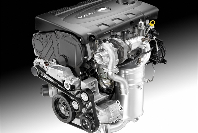 The engine in the Chevrolet Cruze Clean Turbo Diesel is a 2.0L that can produce an estimated 148 hp and 258 lb. ft. of torque.