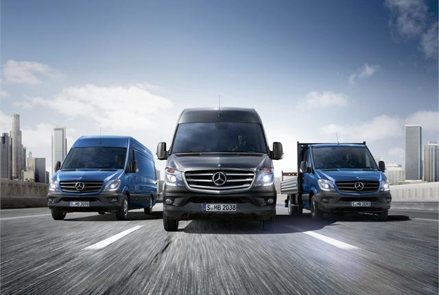 Photo of Sprinter vans courtesy of Mercedes-Benz.