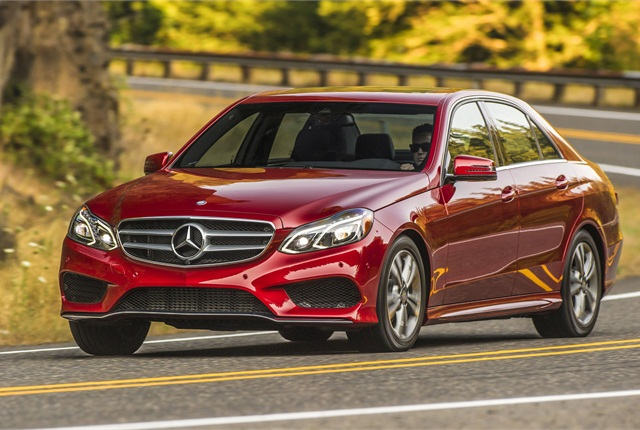 The 2014 Mercedes E250 B lueTEC diesel-powered sedan. Photo courtesy Mercedes-Benz.