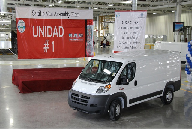 Chrysler is building the all-new 2014 Ram ProMaster full-size van at the company's Saltillo Van Assembly Plant in Coahuilla, Mexico.