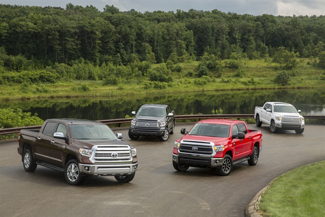 The 2014 Toyota Tundra family. Photo courtesy Toyota.