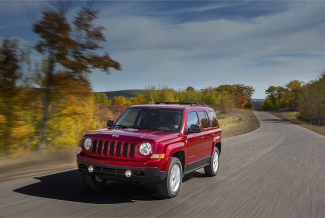 Photo of Jeep Patriot courtesy of FCA US.