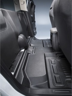 An option to delete the rear seat for great cargo capacity and versatility is available with the Colorado Work Truck extended cab regardless of whether the box stays or goes.  (PHOTO: GM)
