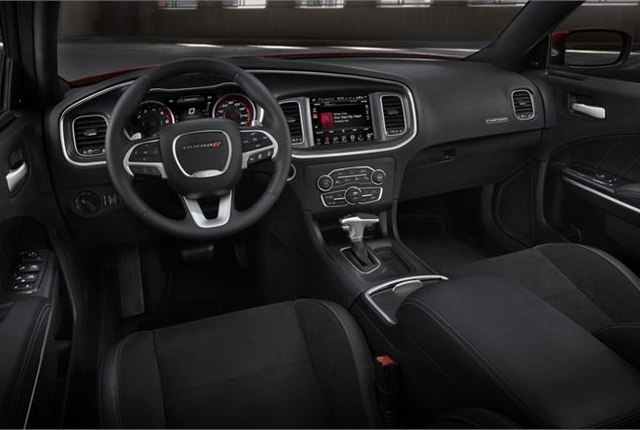 Photo of 2015 Dodge Charger interior courtesy of Chrysler Group.