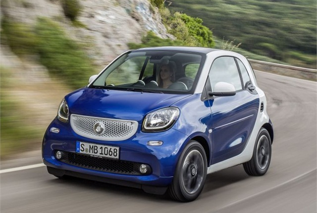 Photo of 2015 Smart Fortwo courtesy of Daimler.
