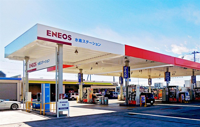 Hydrogen station in Ebina, Kanagawa, Japan. Photo by Honda, Nissan, and Toyota.