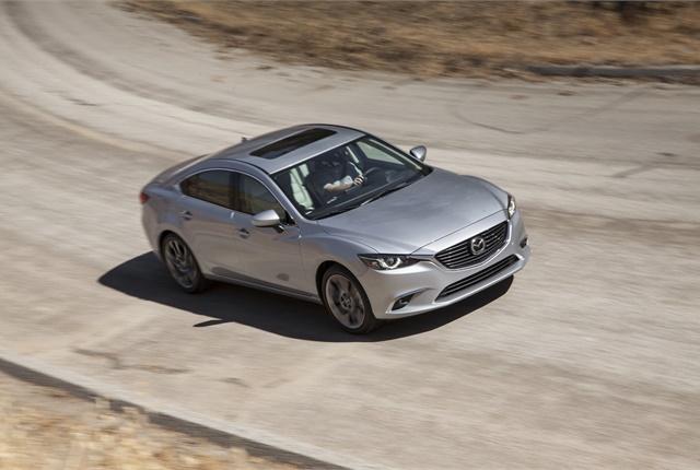 Photo of 2016-MY Mazda6 courtesy of Mazda.