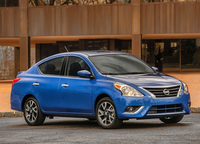 Photo of Versa courtesy of Nissan.