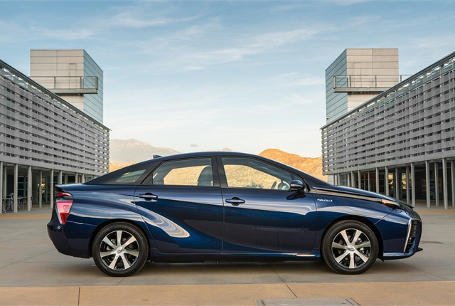 Photo of Toyota Mirai hydrogen fuel cell electric vehicle courtesy of Toyota.