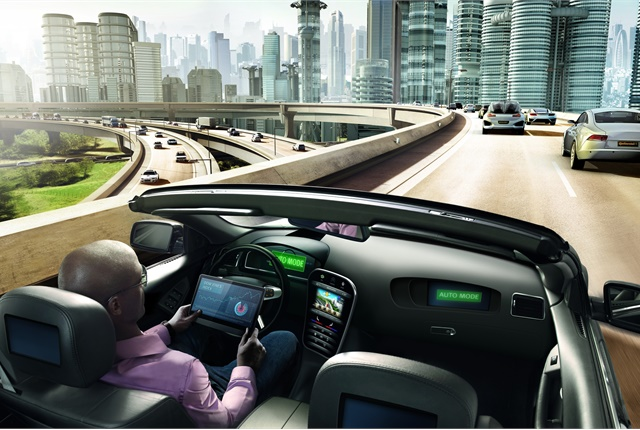 Image of self-driving car courtesy of Continental.